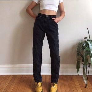 Levi's Jeans - Faded black vintage Levi high waist jean